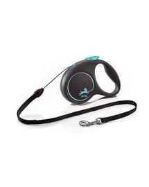 FLEXI Black Design S Cord 5 m blue automatinis pavadėlis