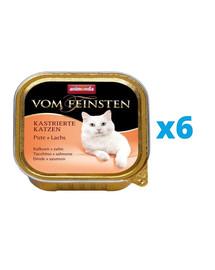 ANIMONDA Vom Feinsten rinkinys su kalakutiena ir lašiša 6 x 100 g