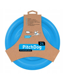 PULLER Pitch Dog Game flying disk 24` blue frisbee šuniui mėlynas 24 cm