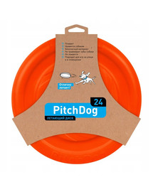 PULLER Pitch Dog Game flying disk 24` orange frisbee šuniui oranžinis 24 cm