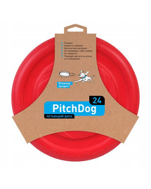 PULLER Pitch Dog Game flying disk 24` pink frisbee šuniui rausvas 24 cm