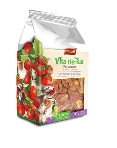 VITAPOL Džiovinti pomidorai graužikams ir triušiams 70 g