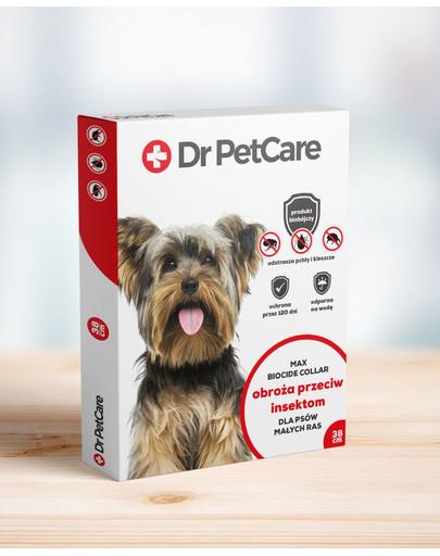 Dr PetCare MAX Biocide Collar Antkaklis nuo blusų ir vabždžių mažos veislės šuniui 38 cm 2 vnt.