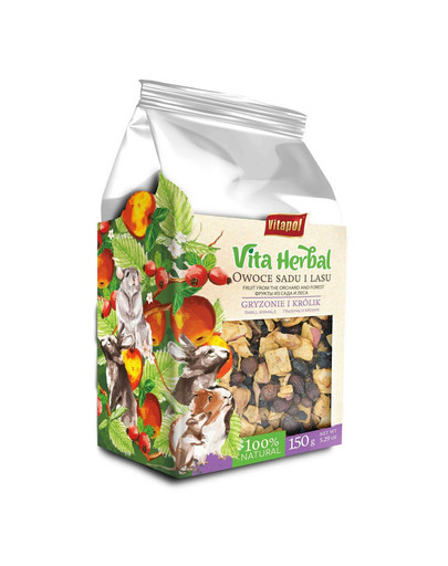 VITAPOL Vita Herbal papildomas mišinys graužikams ir triušiams Vaisiai iš sodo ir miško 150 g