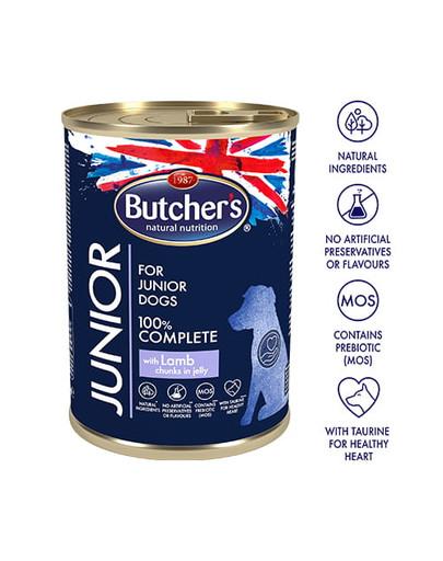BUTCHERS Junior konservai su ėriena 400 g