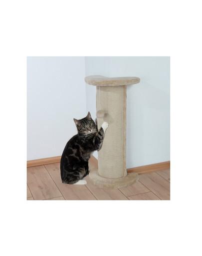 Trixie Lorca, kampinė kačių nagų draskyklė su žaisliuku, 75 cm, smėlinė