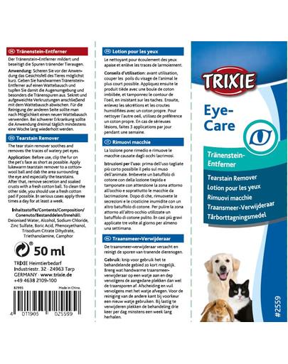 Trixie priemonė lašai valyti akių sritį 50 ml