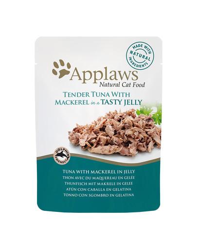 APPLAWS konservai katėms su tunais ir skumbre drebučiuose 70 g