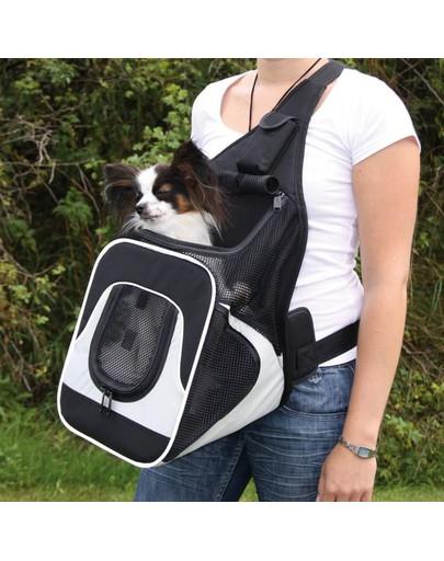 Trixie kelioninė kuprinė-krepšys juoda-pilka