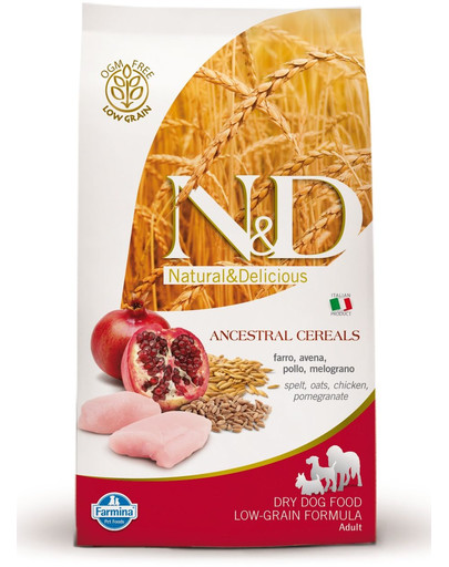 FARMINA N&D low grain chicken & pomegrante small dog 2.5 kg