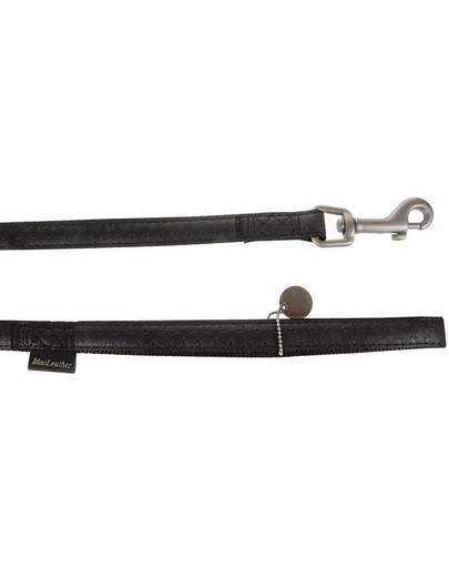 Zolux pavadėlis Mac Leather 25 mm / 1.2 m juodas