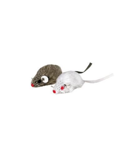 Trixie pilka ir balta pelės su varpeliu