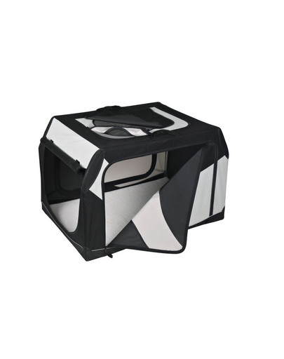 Trixie Vario Nylon transportavimo narvas juodas-pilkas 91 × 58 × 61 cm