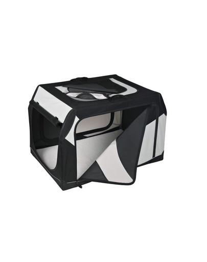 Trixie Vario Nylon transportavimo narvas 61 × 43 × 46 cm  juodas - pilkas
