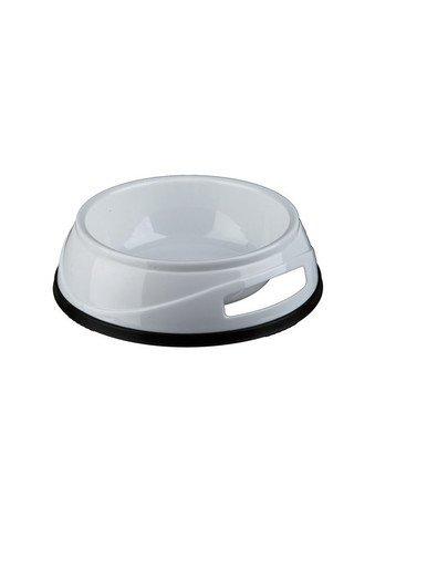 Trixie sunkus plastikinis dubenėlis su guminiu pagrindu 0.3 l /12 cm