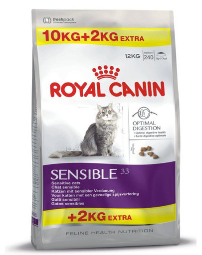ROYAL CANIN Sensible 33 10 kg + 2 kg dovanų