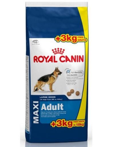 ROYAL CANIN Maxi adult 15 kg + 3 kg gratis