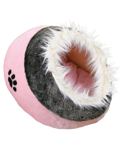 Trixie Minou guolis-būdelė 41x35x26 cm rožinis-tamsiai pilkas