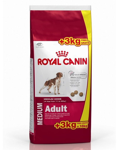 ROYAL CANIN Medium adult 15+3 kg DOVANŲ