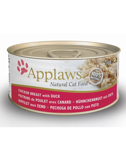 APPLAWS CAT CHICKEN BREAST WITH DUCK 70 g