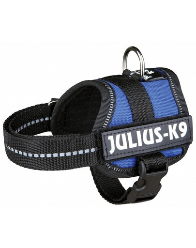 Trixie petnešos Julius-K9 Harness L - Xl 71–96 cm mėlynos