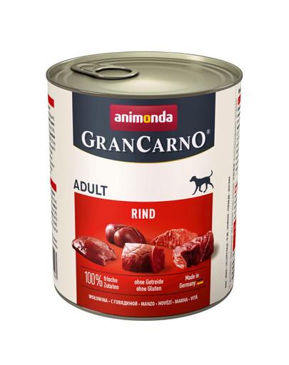 Animonda Grancarno Adult 800 g suaugusių šunų konservai su jautiena