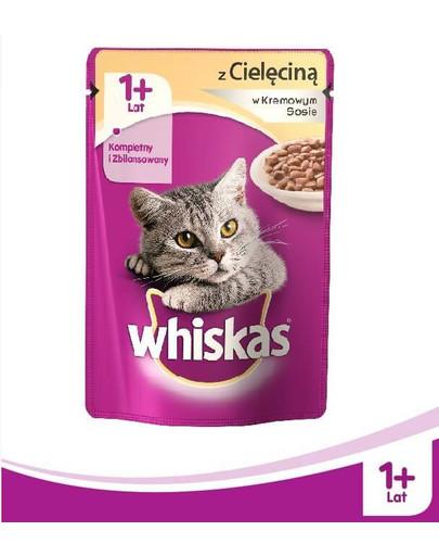 WHISKAS konservuotas maistas katėms su jautiena 100 g