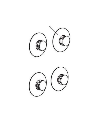 Aquael lipukai d=24 mm 4 vnt.