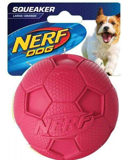 Nerf Squeaker Soccer Ball cypiantis kamuoliukas L žalias/raudonas