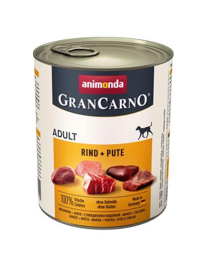 Animonda Grancarno Adult 800 g suaugusių šunų konservai su jautiena ir kalakutiena