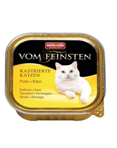 ANIMONDA Vom Feinstein konservai sterilizuotoms katėms su kalakutiena ir sūriu 100 g