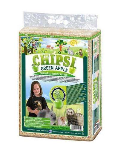 JRS Chipsi Green Apple kraikas obuolių kvapo 60 l