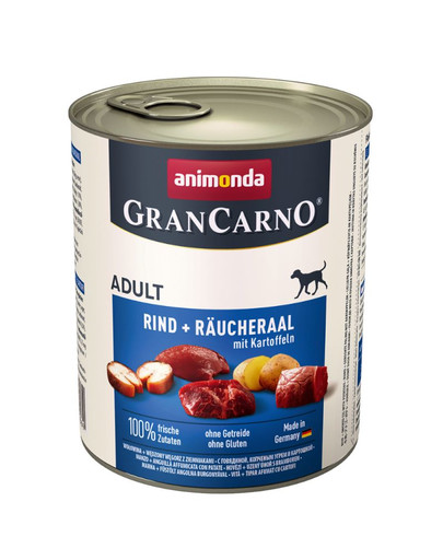 Animonda Grancarno Adult su rukytu bekonu ir bulvėmis 0.8 kg