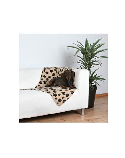 Trixie antklodė 100 X 70 cm smėlinė su juodomis letenomis