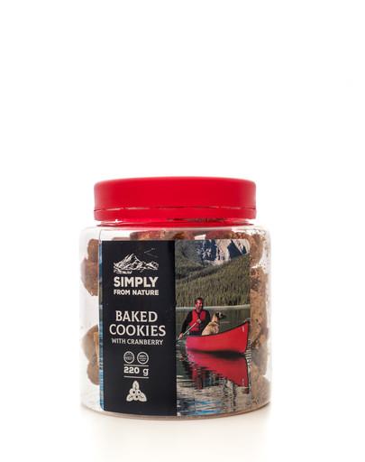 SIMPLY FROM NATURE Baked Cookies with cranberry kepti sausainiai su spanguolėmis 220 g