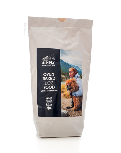 SIMPLY FROM NATURE Oven Baked Dog Food with wild boar orkaitėje keptas maistas su šerniena 1,2 kg