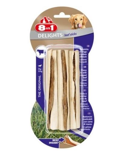 8In1 skanėstas Beef Delights Bone Sticks 3 vnt.