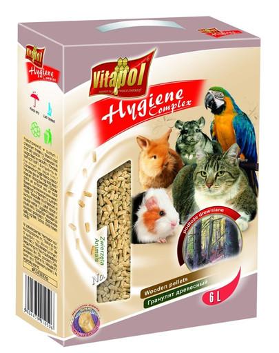 VITAPOL Natūralios medžio granulės gyvūnams 4kg