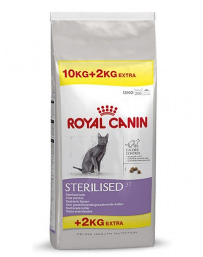 ROYAL CANIN Sterilised 37 10 kg + 2 kg DOVANA