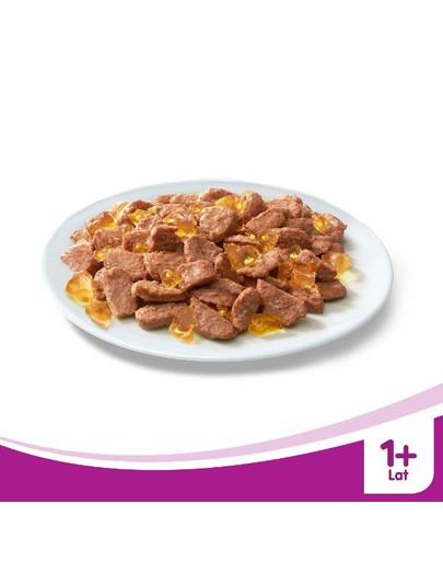 WHISKAS konservai su vištiena drebučiuose 100 g x 24