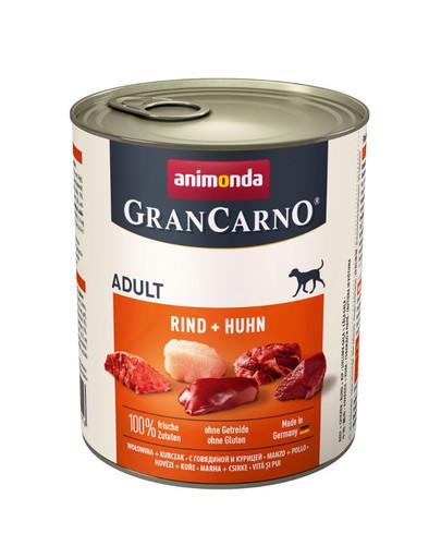 Animonda Grancarno Adult 800 g suaugusių šunų konservai su jautiena ir vištiena