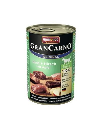 Animonda Grancarno Adult 400 g suaugusių šunų konservai su elniena ir obuoliais