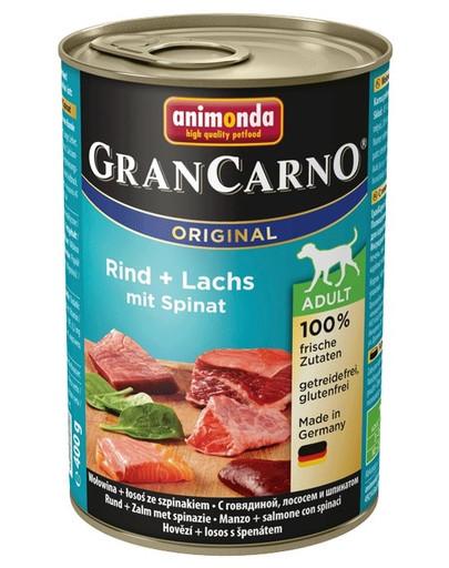 Animonda Grancarno Adult 400 g suaugusių šunų konservai su lašiša ir špinatais