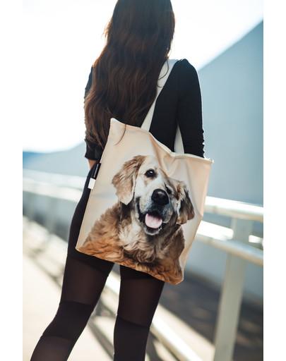 FERA Klasikinis pirkinių krepšys Auksaspalvis retriveris