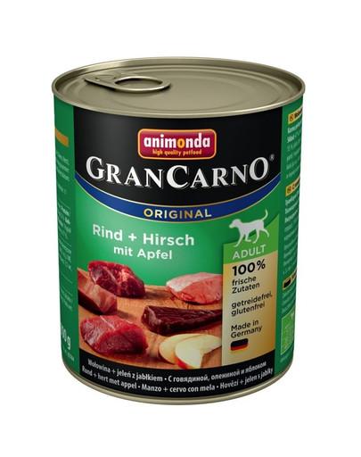 Animonda Grancarno Adult 800 g suaugusių šunų konservai su elniena ir obuoliais