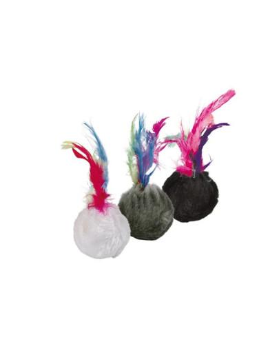 Trixie kamuoliukai su varpeliu ir plunksnomis 100 vnt.
